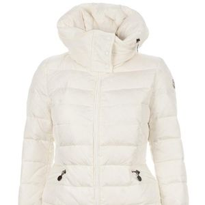 Moncler Cream Sanglier Down Jacket Coat Size Small
